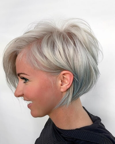 A-line Short Messy Bob for Thinning Hair