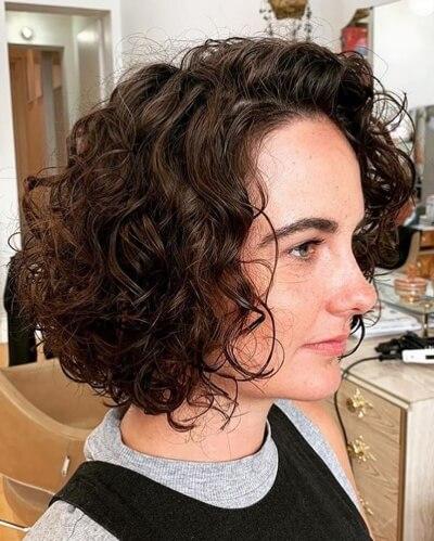 Angled Medium Bob Haircut with Side Part