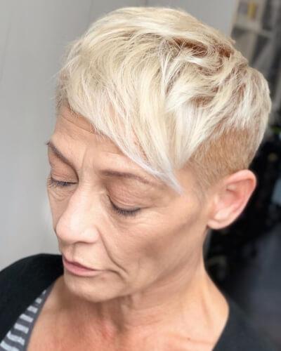 Asymmetrical Side Bangs Pixie Cut