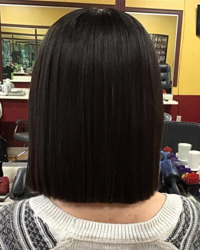 Blunt Medium Bob Haircut for Straight Hair