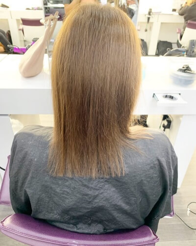 Blunt Shoulder-length Haircut for Straight Thin Hair