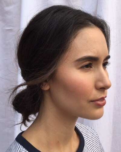 Casual Chignon Hairstyle for Thin Hair