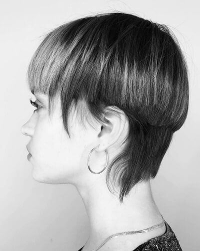 Choppy Mullet and Bowl Cut Hybrid Hairstyle