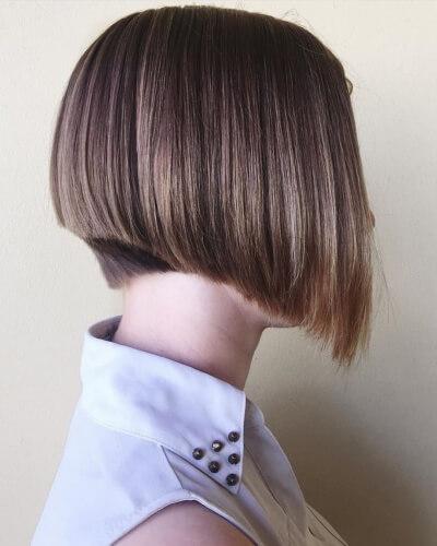 Deep A-line Bob Haircut for Straight Hair
