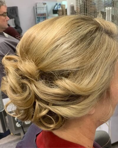 Elaborate Updo Hairstyle for Thinning Hair