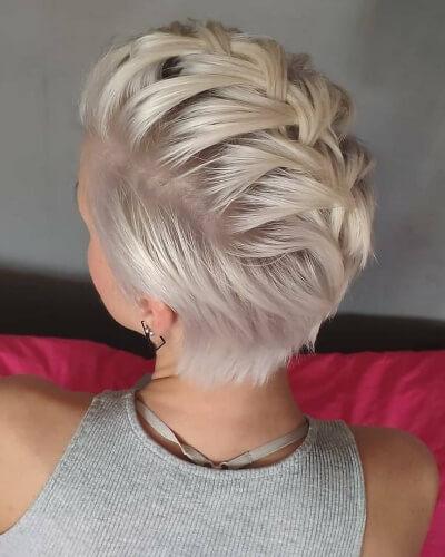 Faux Hawk Braid Hairstyle for Short Thick Hair