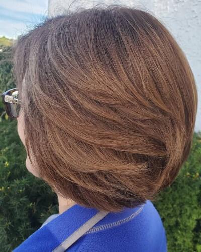 Feathered Bob Haircut