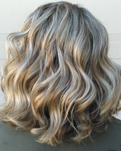 Ghost Layers Wavy Shoulder-length Haircut