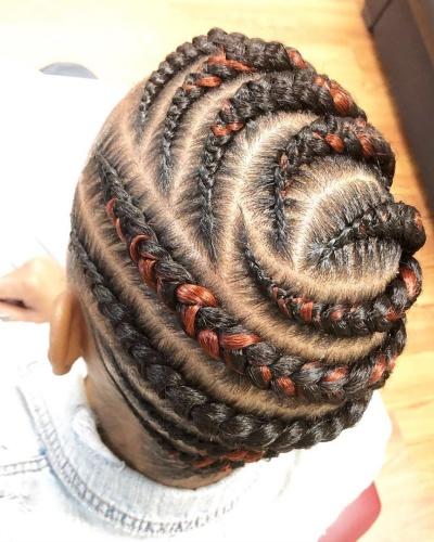 Goddess Braids Updo Hairstyle for Short Kinky Hair