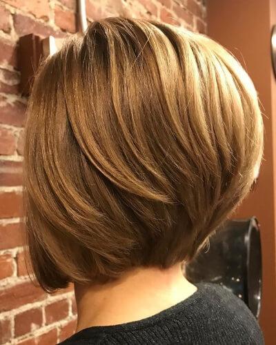 Graduated Bob Haircut with Back Layers