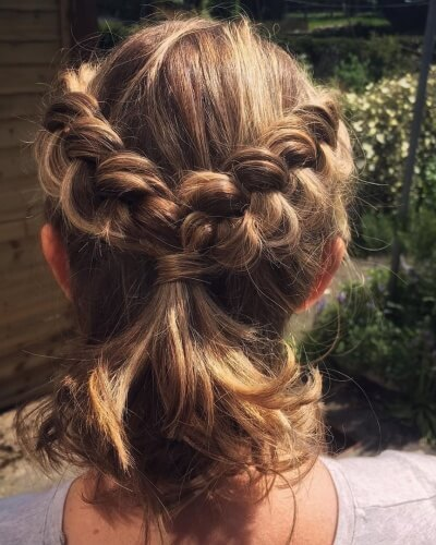 Half Up Half Down Two Sided Plait