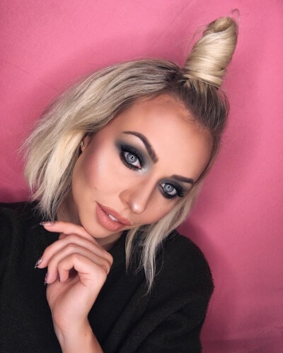 Half Up Top Knot Hairstyle for Short Hair