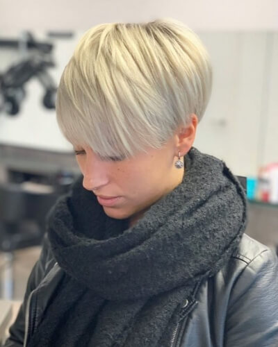 Layered Pixie Bob with Long Side Bangs
