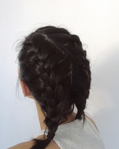 Loose Messy French Braid Pigtails