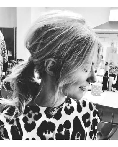 Loose Messy Ponytail Hairstyle for Thin Hair