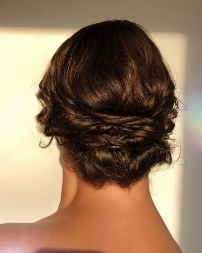 Low Formal Updo for Back Thinning Hair