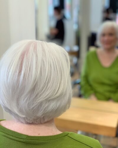 Low Layered Medium Bob Haircut