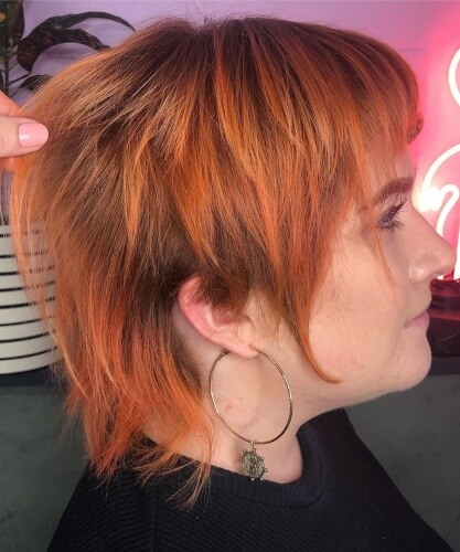 Messy Layered Mullet Cut