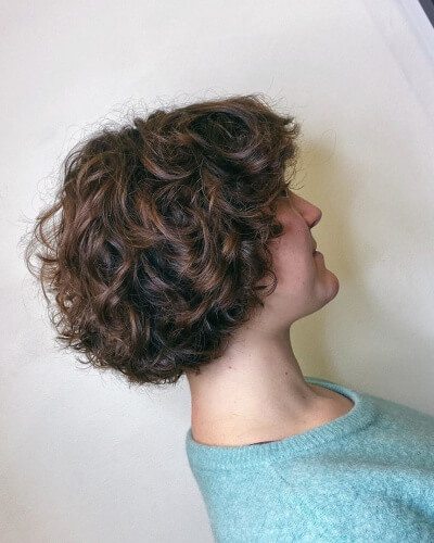 Messy Modern Pageboy Haircut for Thick Curly Hair