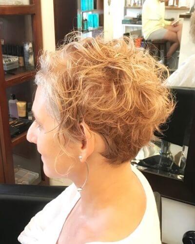 Messy Textured Asymmetrical Pixie Bob Haircut for Thin Hair