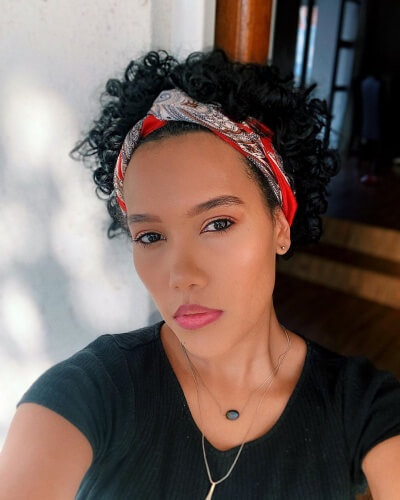 Protective Headband Hairstyle for Short Curly Hair
