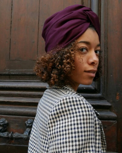 Protective Turban Hairstyle for Natural Kinky Hair