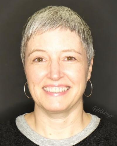 Short Face Framing Textured Pixie for Women over 50