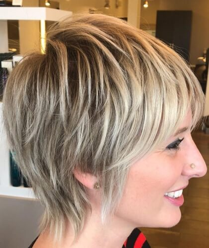 Short Haircut with Fine Textured Layers