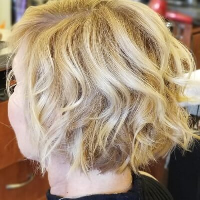 Short Messy Bob Haircut with Low Layers