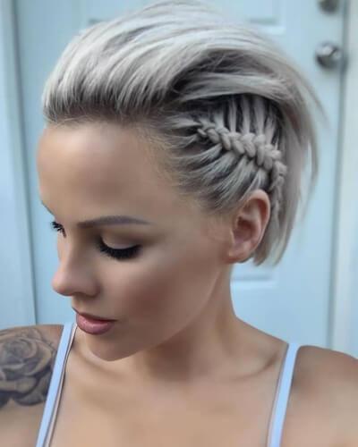Side Dutch Braid with Slick Back Hair