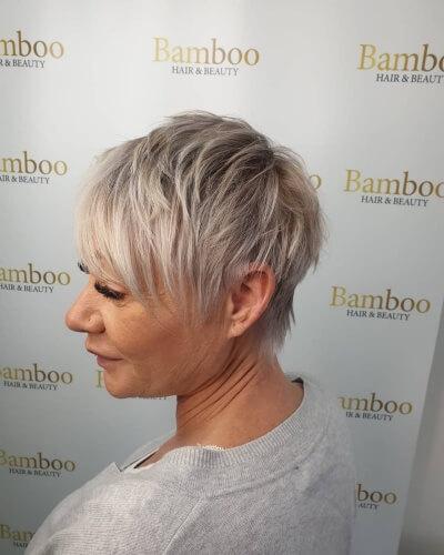 Side-swept Choppy Layered Pixie Haircut
