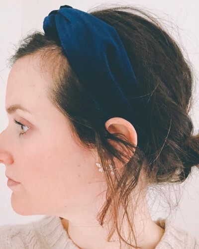 Statement Headband Short Hairstyle for Thinning Hair