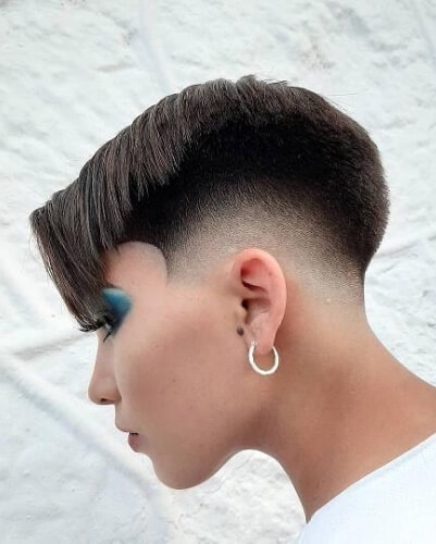 Taper Fade Pixie with Rounded Shape Up
