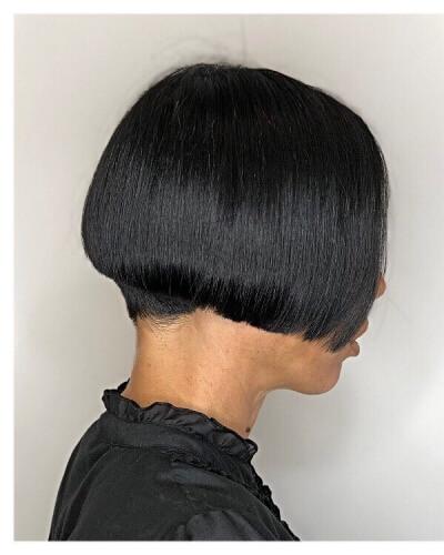 Tapered Undercut Short Classic Bob Haircut