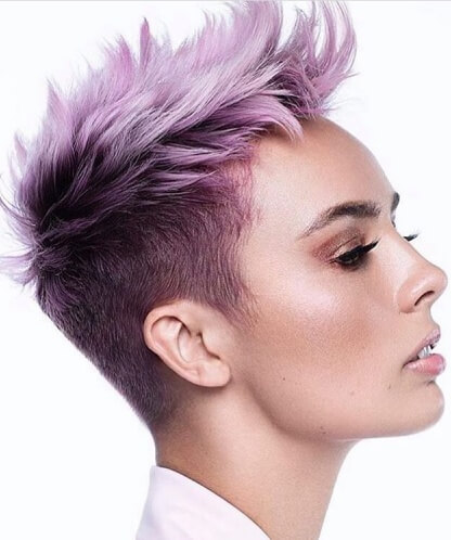 Textured Faux Hawk Pixie Cut with Two-tone Ombre