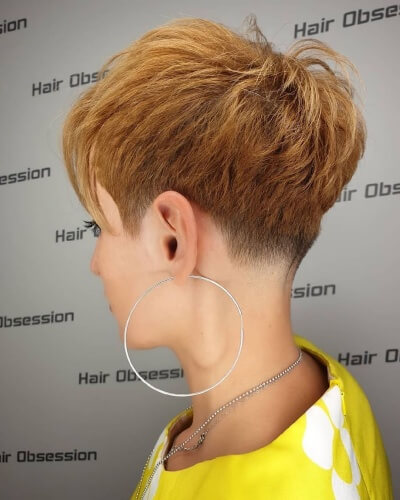 Textured Pixie Cut with Taper Neck Fade