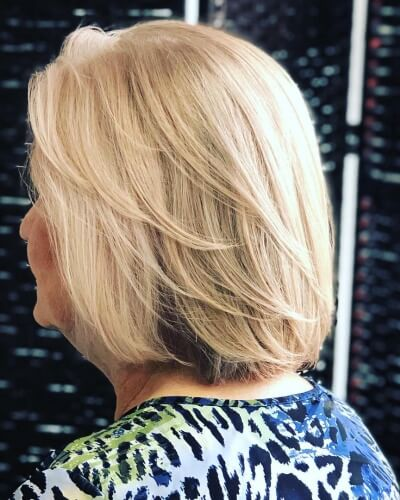 Two Tone Grey Blending Shoulder-length Hairstyle