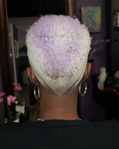 V-cut Faux Hawk Short Hairstyle for Kinky Hair