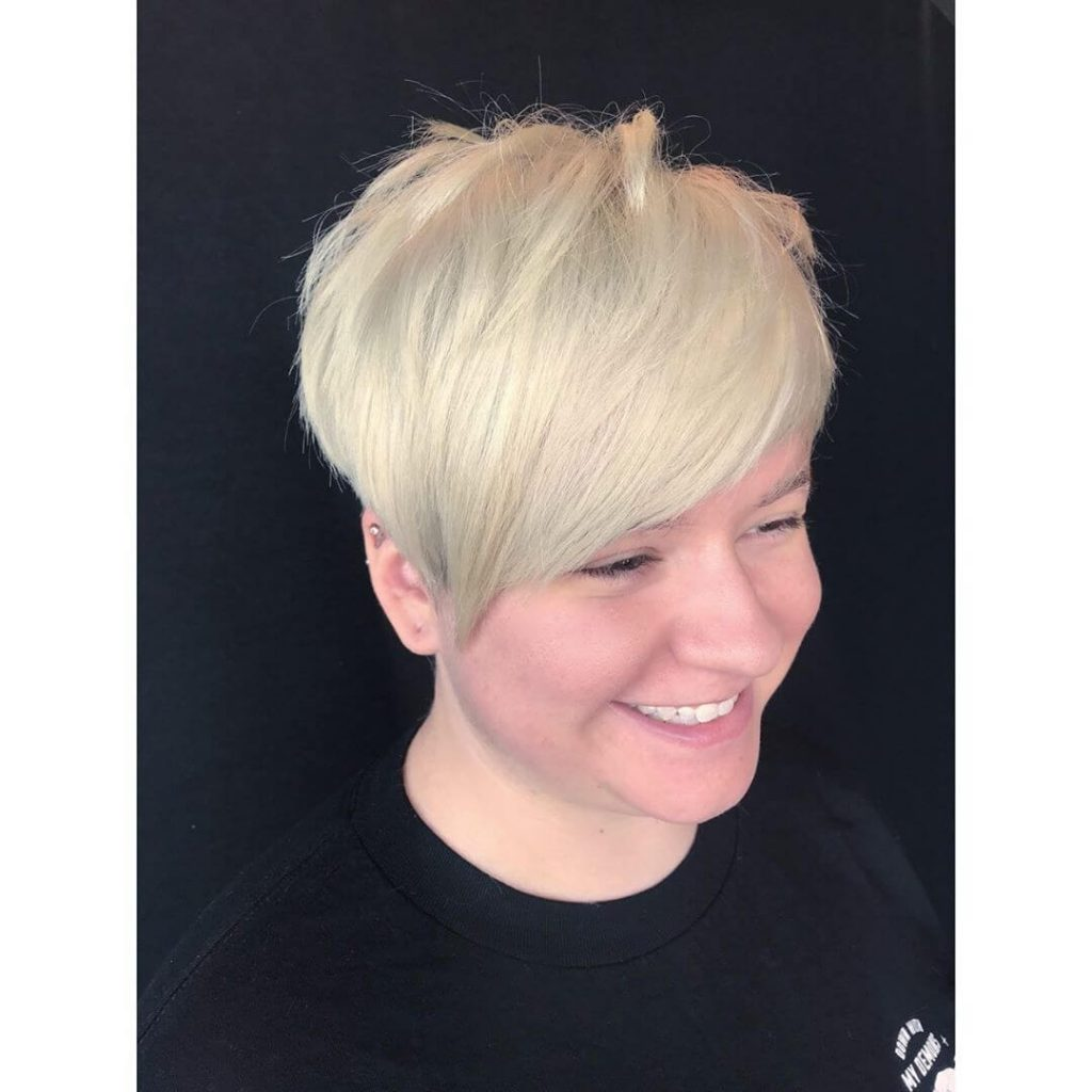 Angular Pixie Cut for Round Faces and Thick Hair