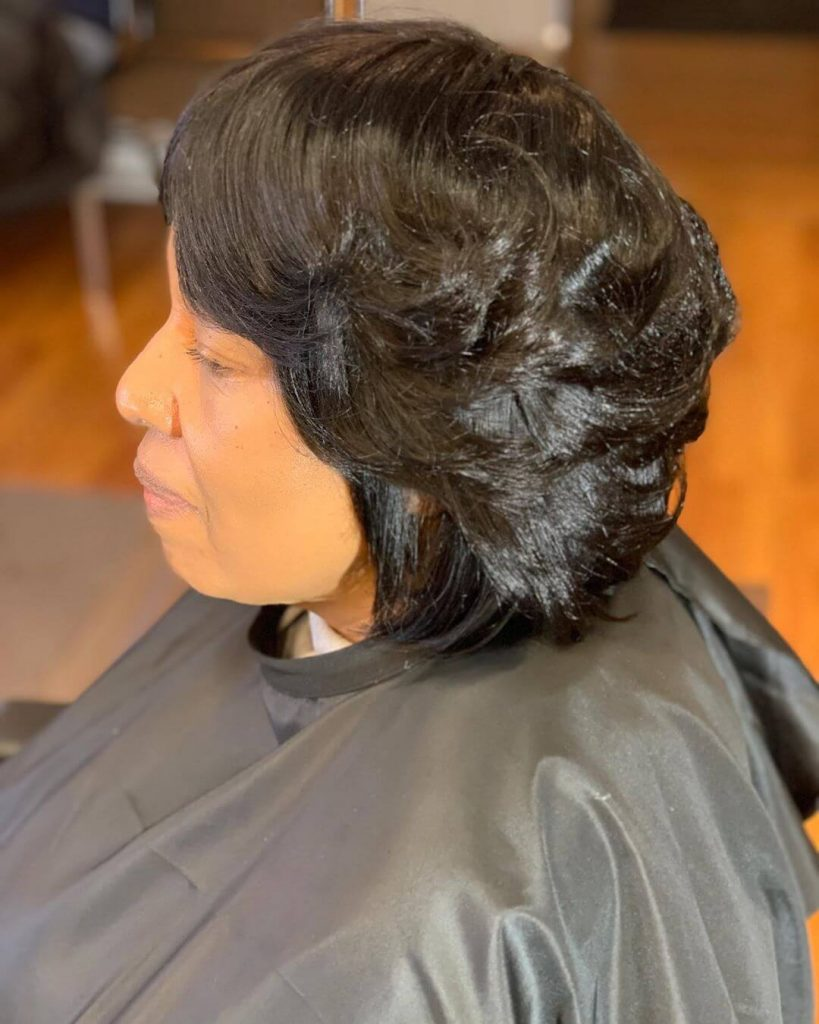 Choppy Feathered Bob Weave for Round Faces