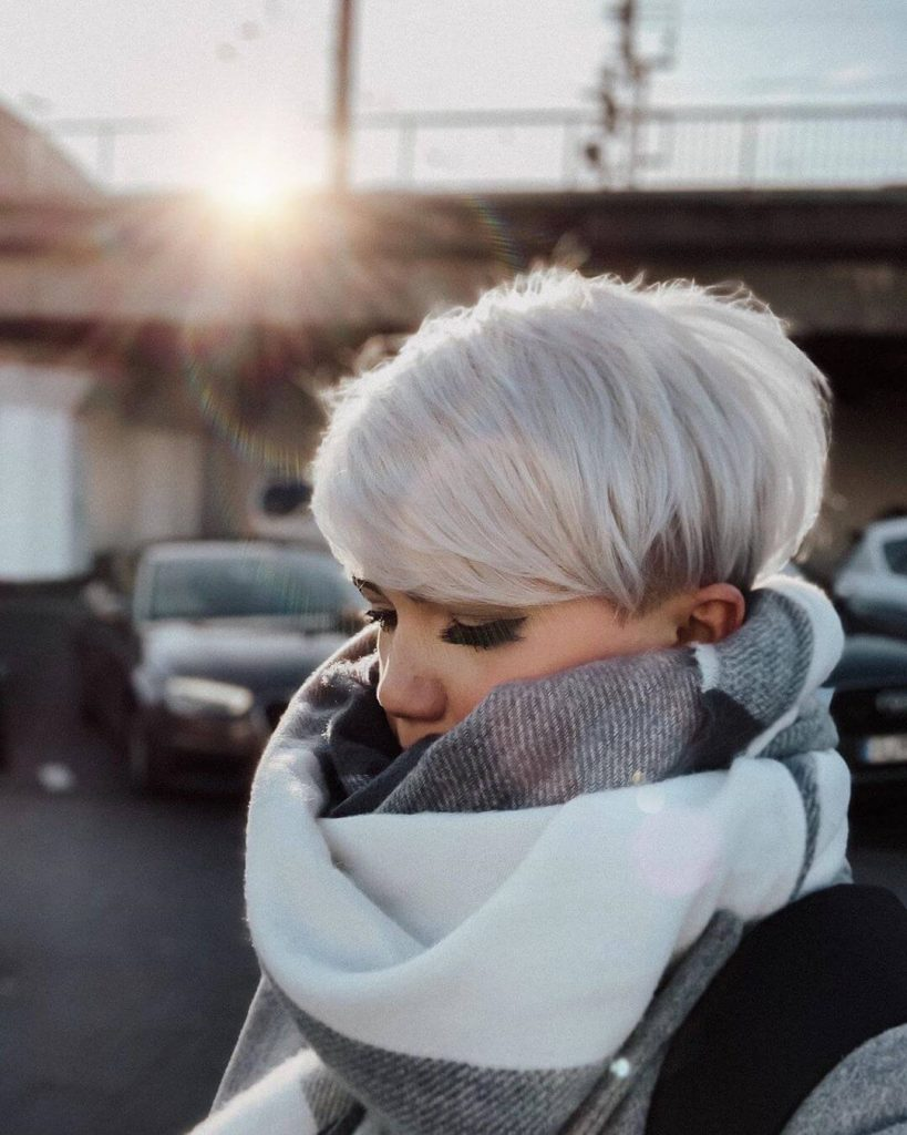 Deep Side Fringe Bowl Cut Pixie Hairstyle