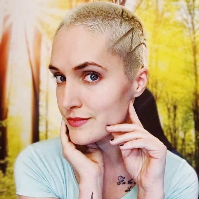 Hair Tattoo Shaved Design Buzz Cut for Oval Shaped Faces