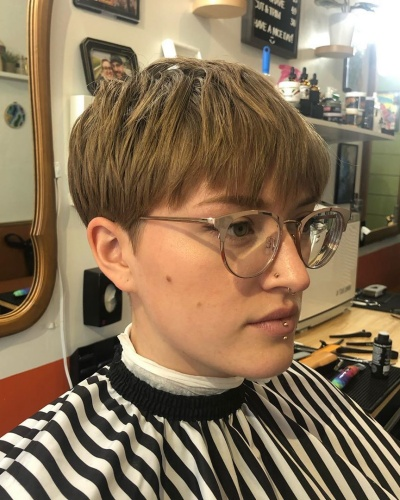 Long Layered Pixie with Choppy Side Bangs