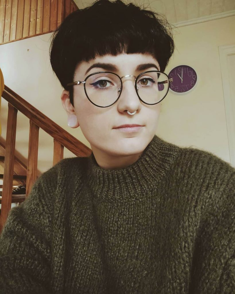 Messy Blunt Bowl Cut Androgynous Hairstyle for Square Faces