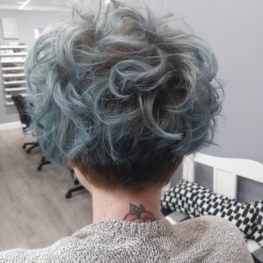 Messy Curly Short Bob with Undercut