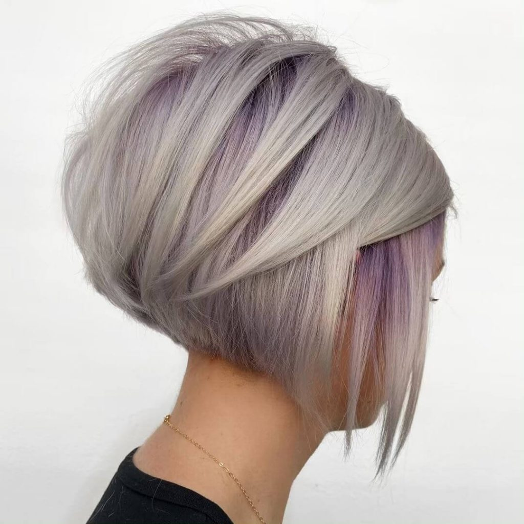 Piecey Stacked Bob Haircut for Oval Shaped Faces