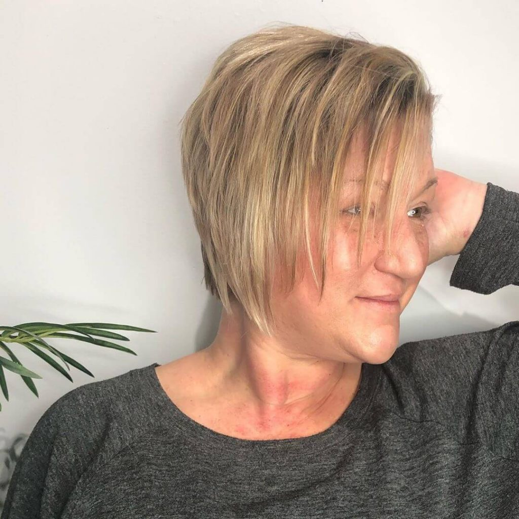 Piecey Textured Stacked Bob Hairstyle