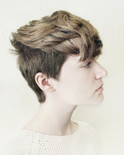 Pixie Cut with Piecey Long Top and Shorter Undercut