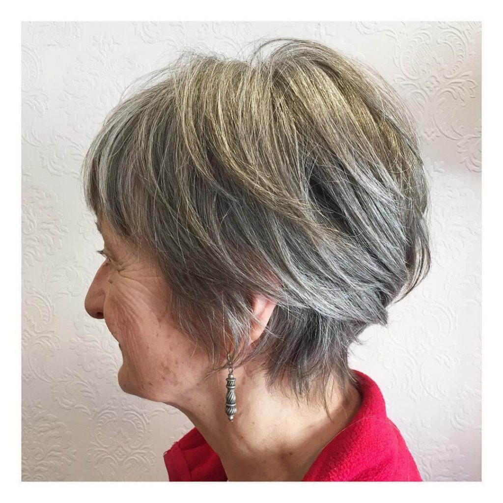 Razor Pixie Shag Cut for Older Women with Round Faces