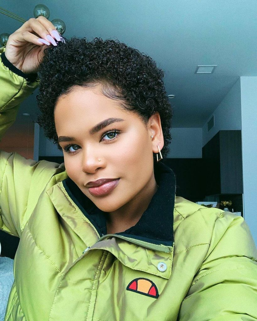 Sculpted TWA Natural Hairstyle for Square Faces